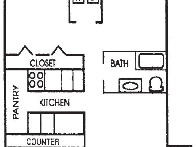 Appleton Place Menomonee Falls 2Bed 1Bath Ranch floor plan