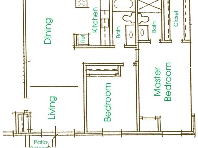 Cameron Heights Menomonee Falls 2Bed 2Bath 1300 V1 floor plan
