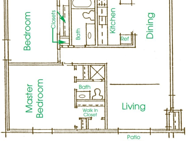 Cameron Heights Menomonee Falls 2Bed 2Bath 1300 V2 floor plan