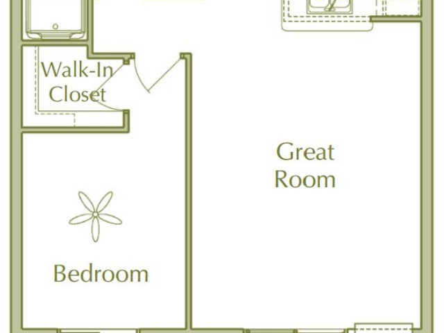 Hidden Ponds Pewaukee apartment 1Bed Ranch floor plan