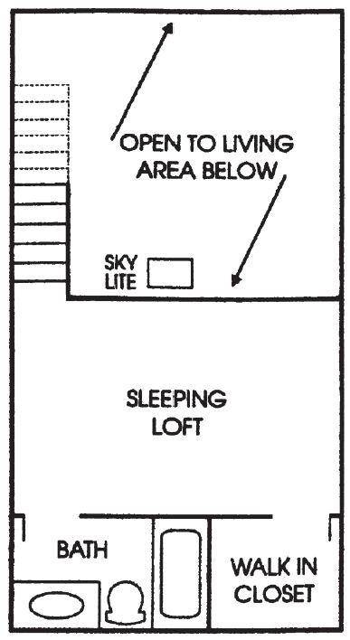 Maple Grove Sussex apartment 1Bed Loft Upper floor plan