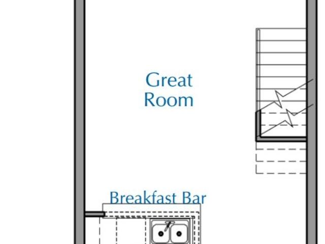 Ridge View Waukesha apartment 1Bed Loft Lower floor plan