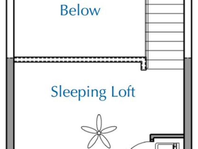 Ridge View Waukesha apartment 1Bed Loft Upper floor plan