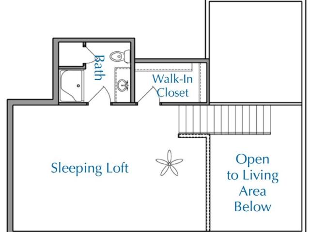 Ridge View Waukesha apartment 2Bed 2Bath Loft Upper floor plan