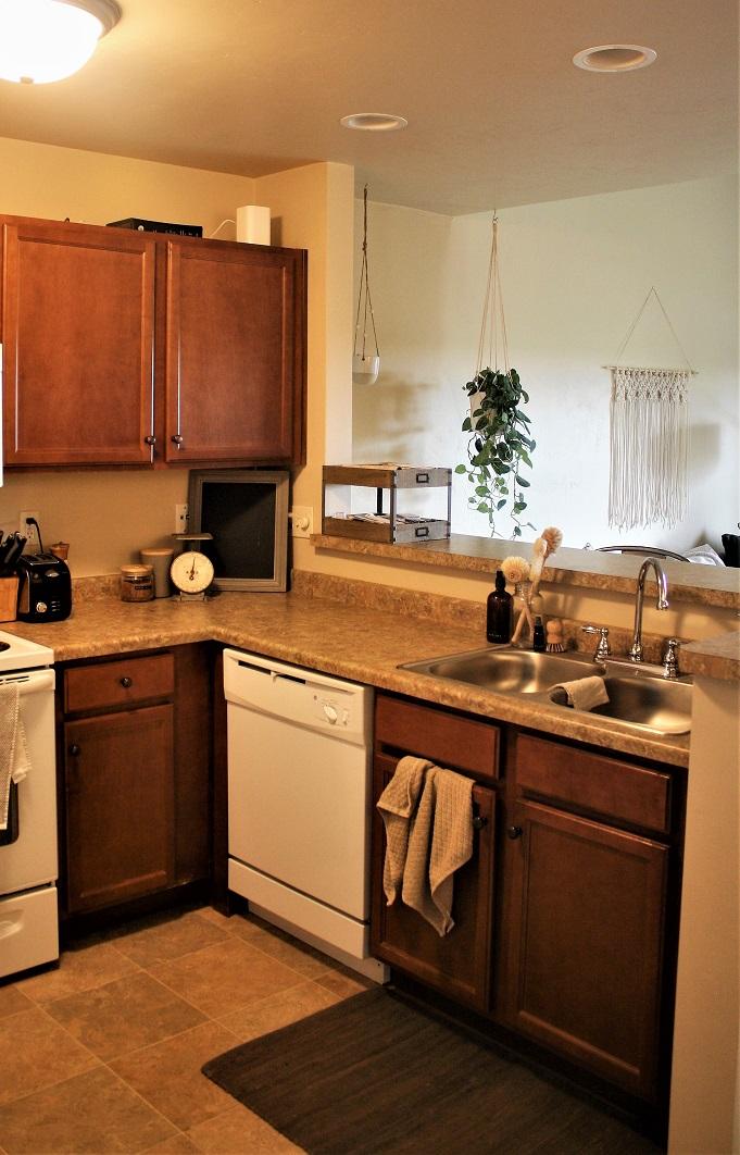 2 bedroom loft style kitchen open concept