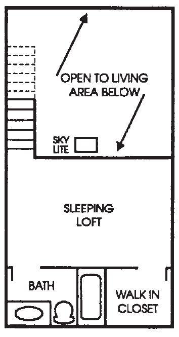 Appleton Place Menomonee Falls 1Bed Loft Upper floor plan