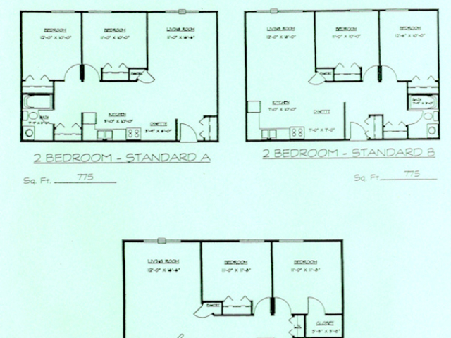 Hartland Country Aire 2bed floor plan