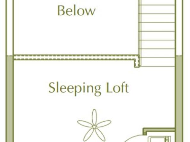 Hidden Ponds Pewaukee apartment 1Bed Loft Upper floor plan
