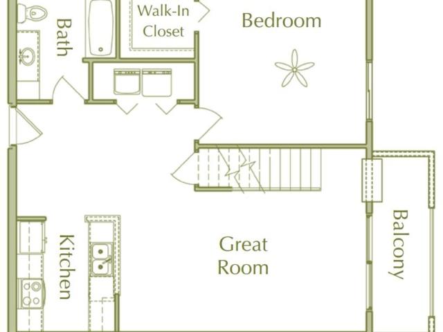 Hidden Ponds Pewaukee apartment 2Bed 2Bath Loft Lower floor plan