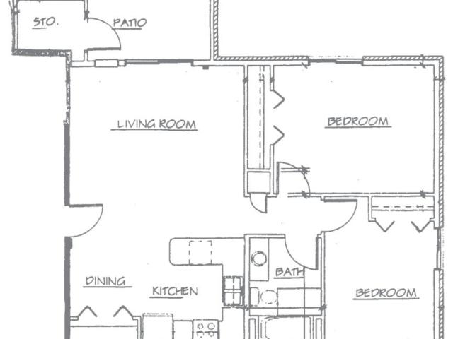 Maple Creek Sussex apartment 2Bed 1stfloor floor plan