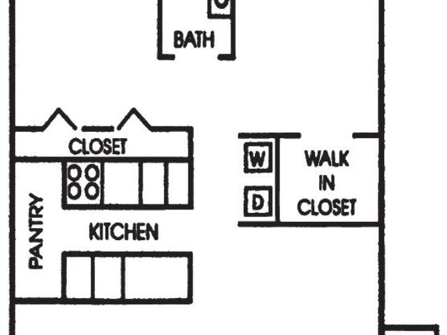 Maple Grove Sussex apartment 2Bed 1Bath Ranch floor plan