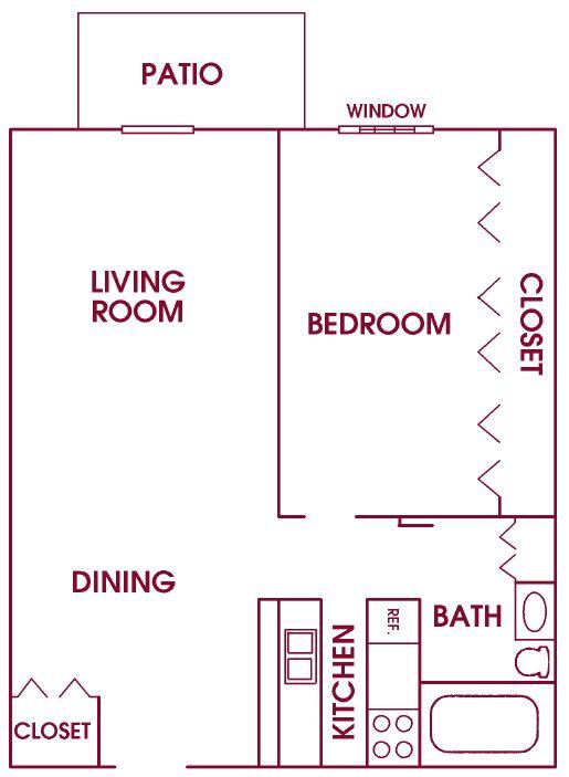 Fairway Meadows Franklin 1Bed Ranch V2 floor plan