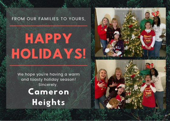 Happy Holidays from Cameron Heights